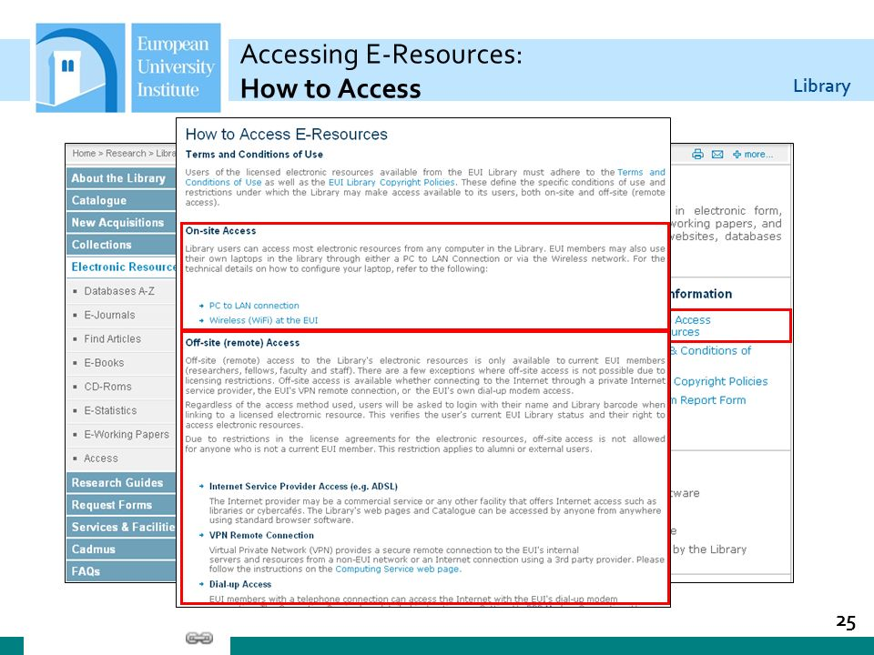Accessing E-Resources: How to Access