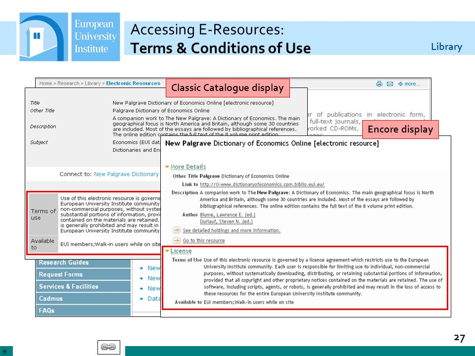 Accessing E-Resources: Terms & Conditions of Use