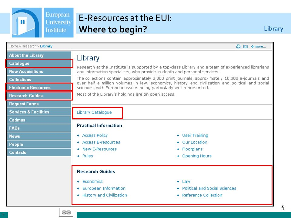E-Resources at the EUI: Where to begin