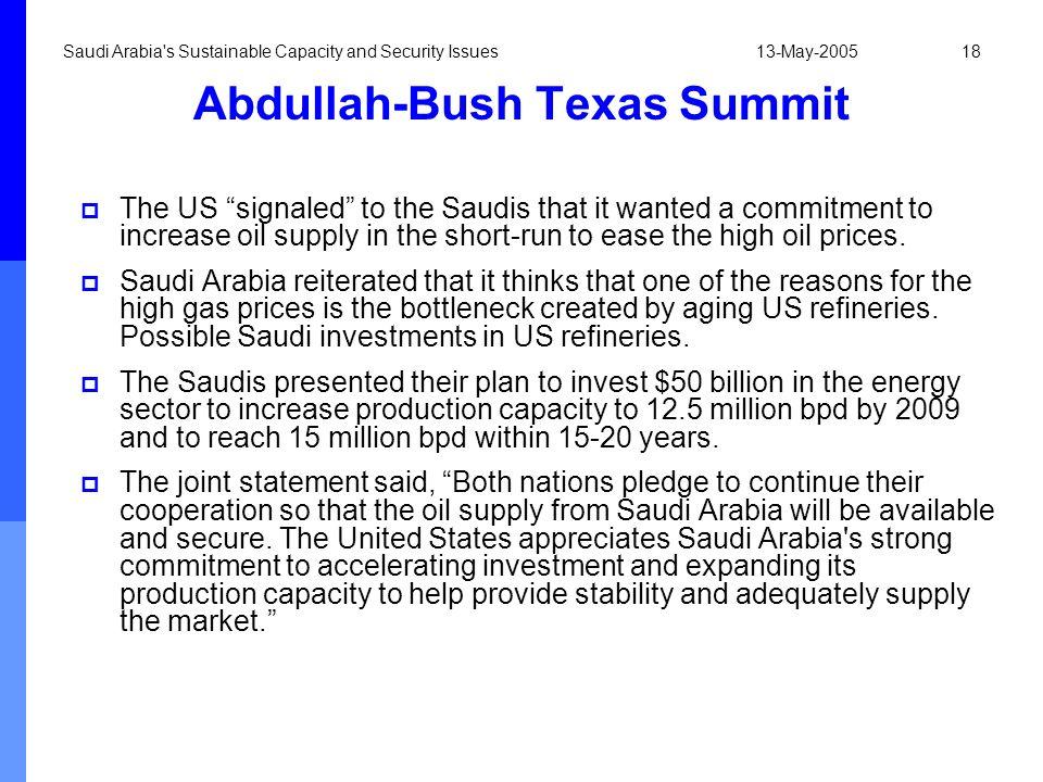 Abdullah-Bush Texas Summit
