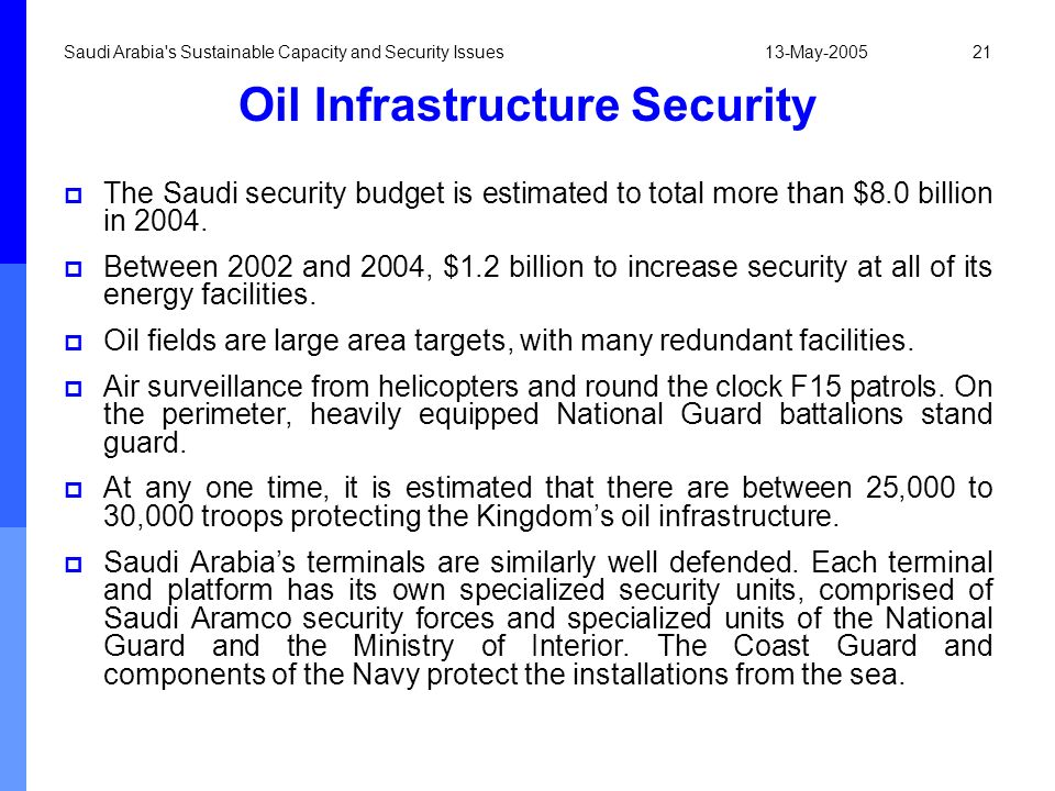 Oil Infrastructure Security