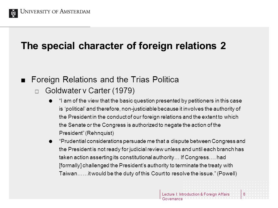 The special character of foreign relations 2