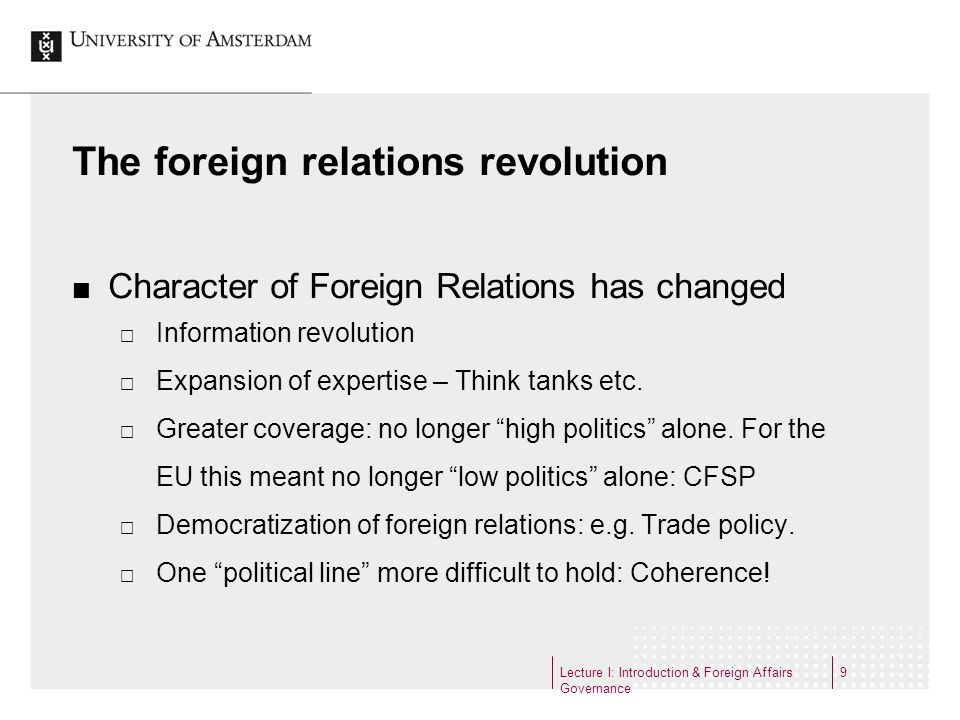 The foreign relations revolution