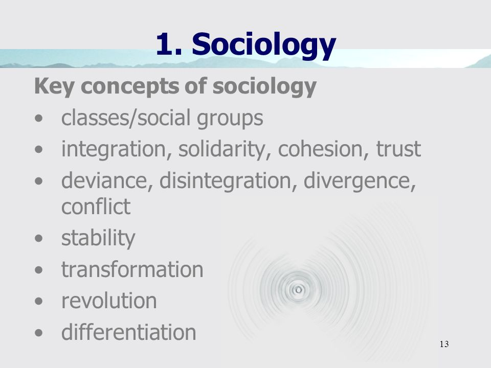 1. Sociology Key concepts of sociology classes/social groups