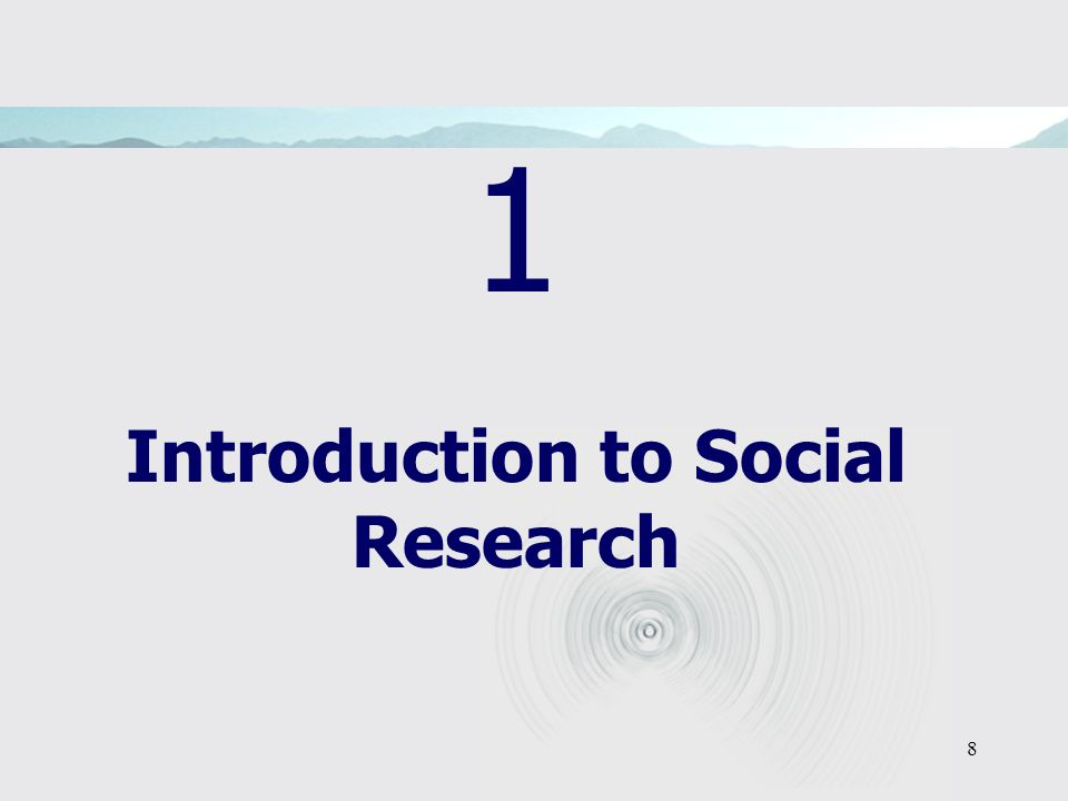 1 Introduction to Social Research