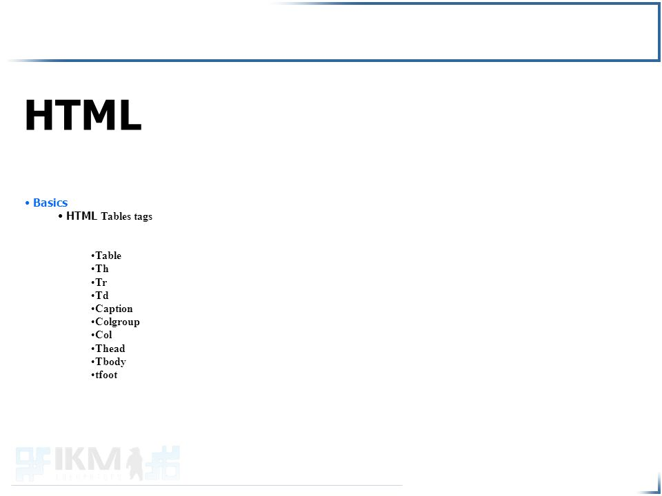 for Html table tr td