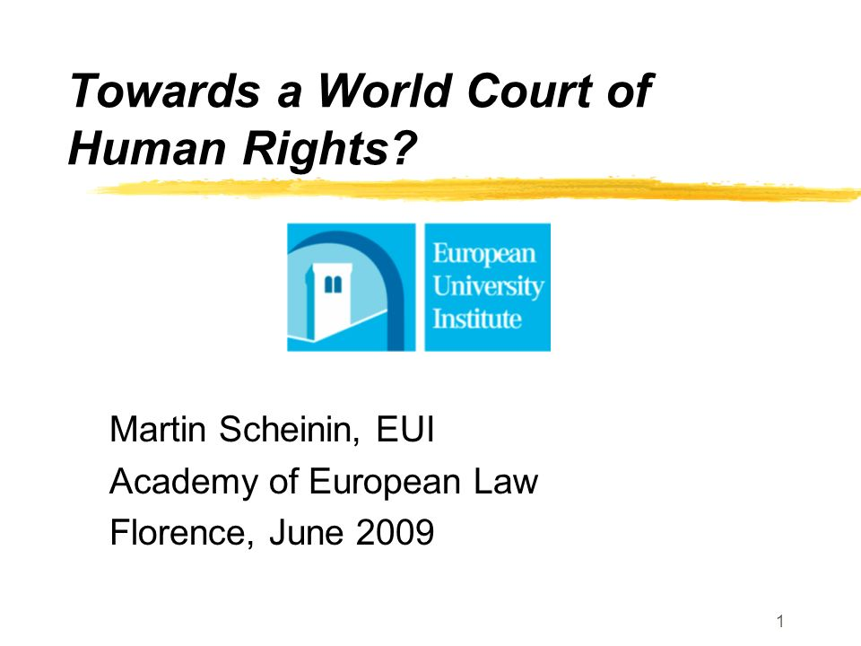 Towards a World Court of Human Rights