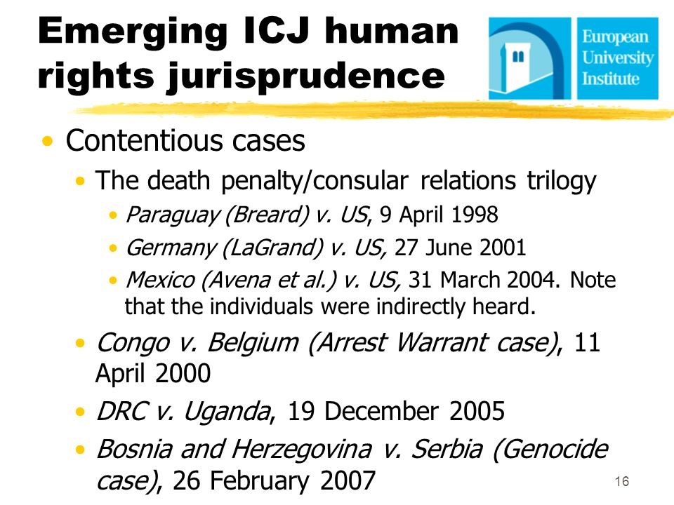 Emerging ICJ human rights jurisprudence