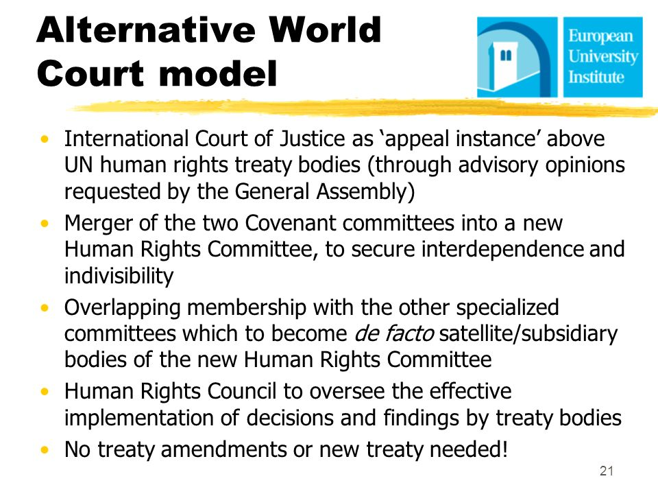 Alternative World Court model