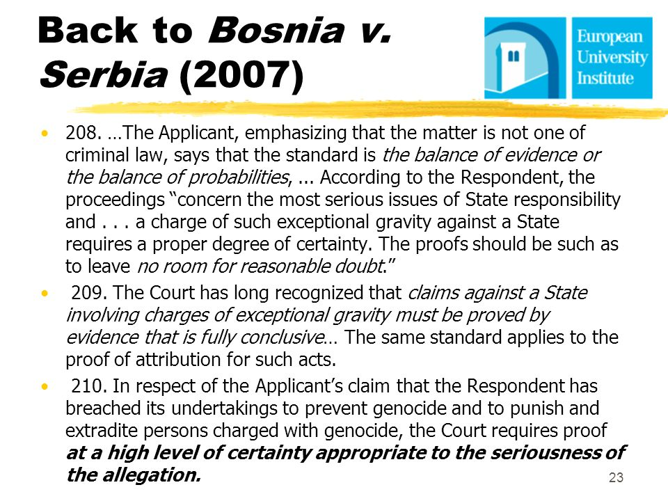 Back to Bosnia v. Serbia (2007)