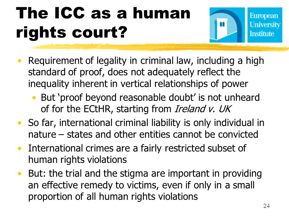 The ICC as a human rights court