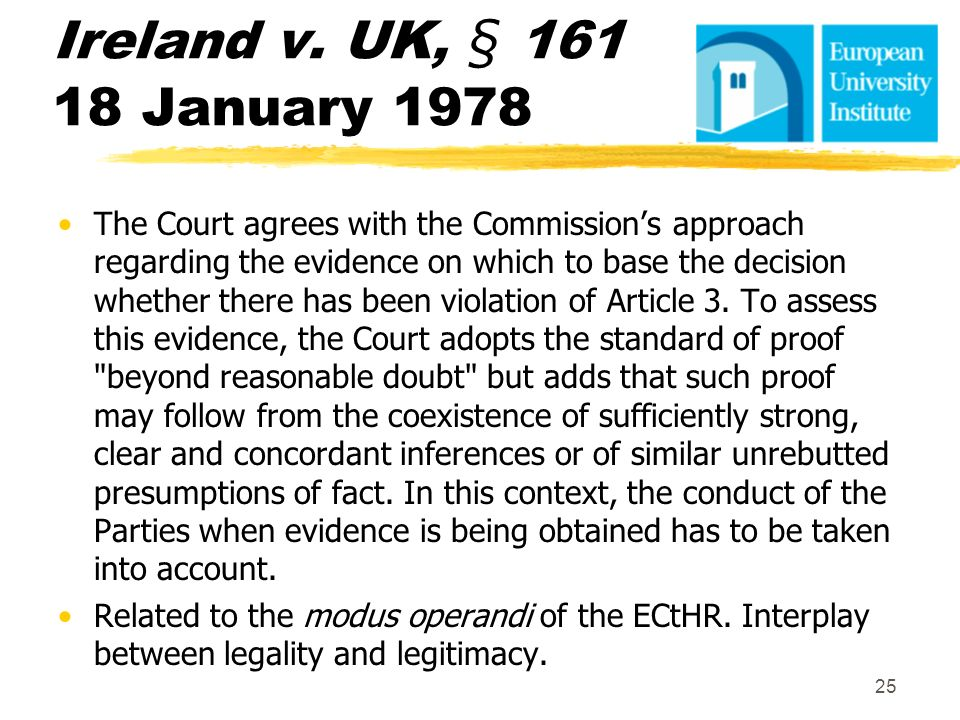Ireland v. UK, § 161 18 January 1978