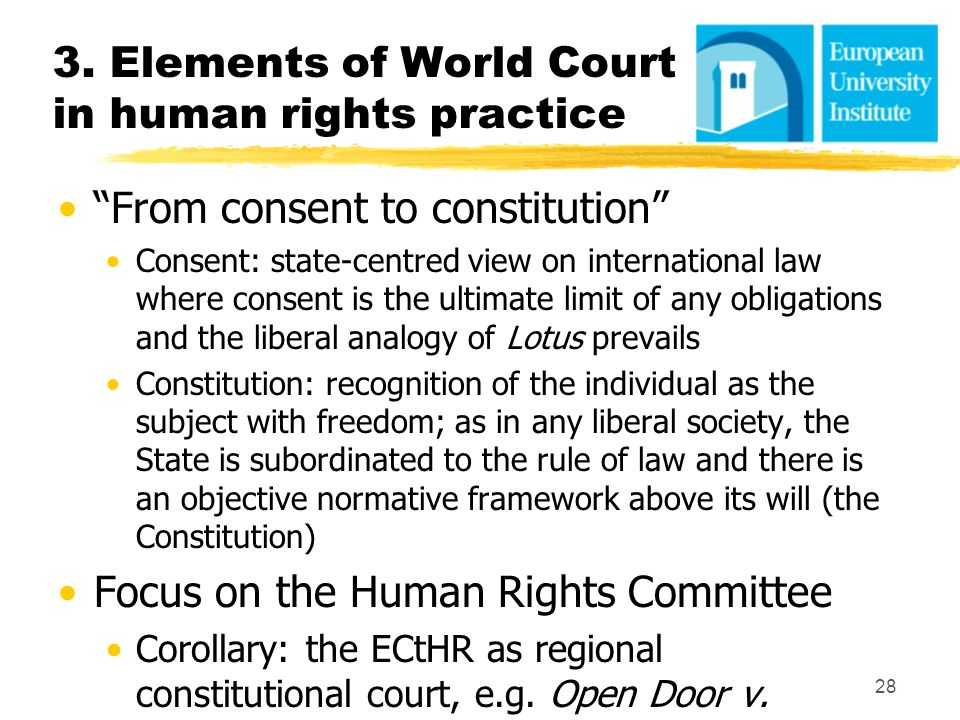 3. Elements of World Court in human rights practice