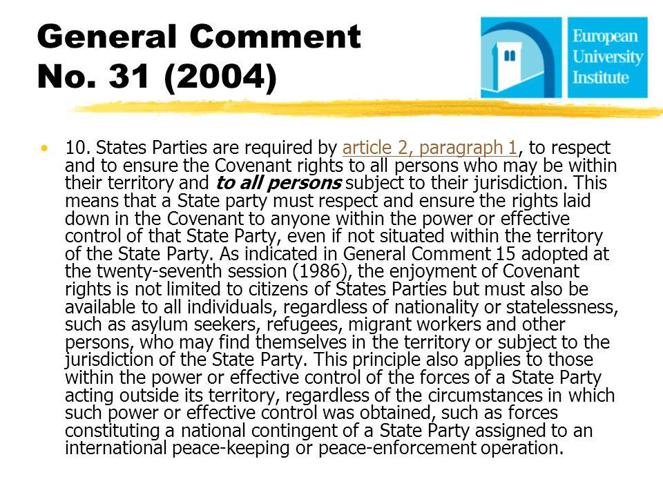 General Comment No. 31 (2004)