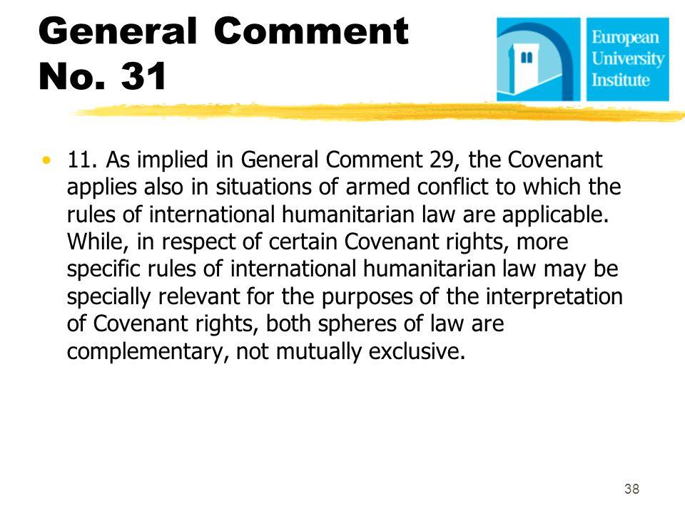 General Comment No. 31