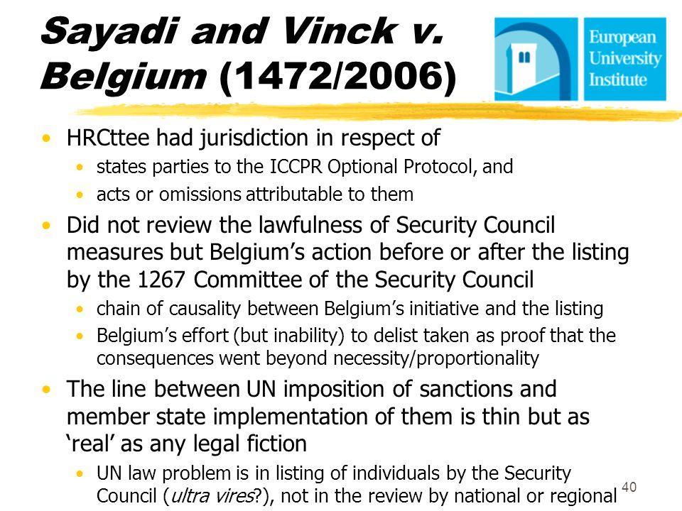 Sayadi and Vinck v. Belgium (1472/2006)