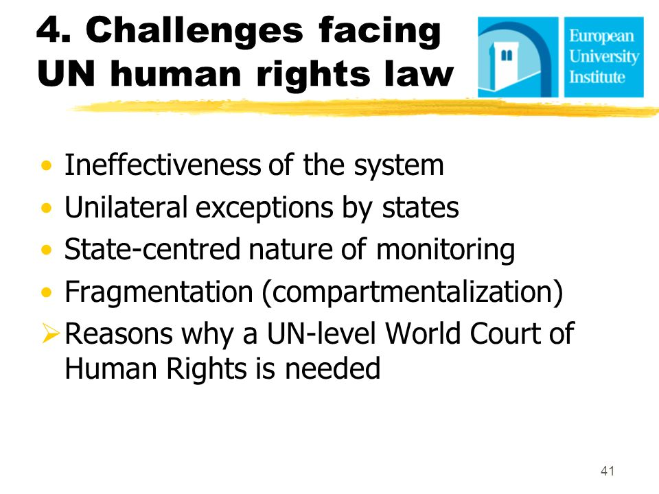 4. Challenges facing UN human rights law