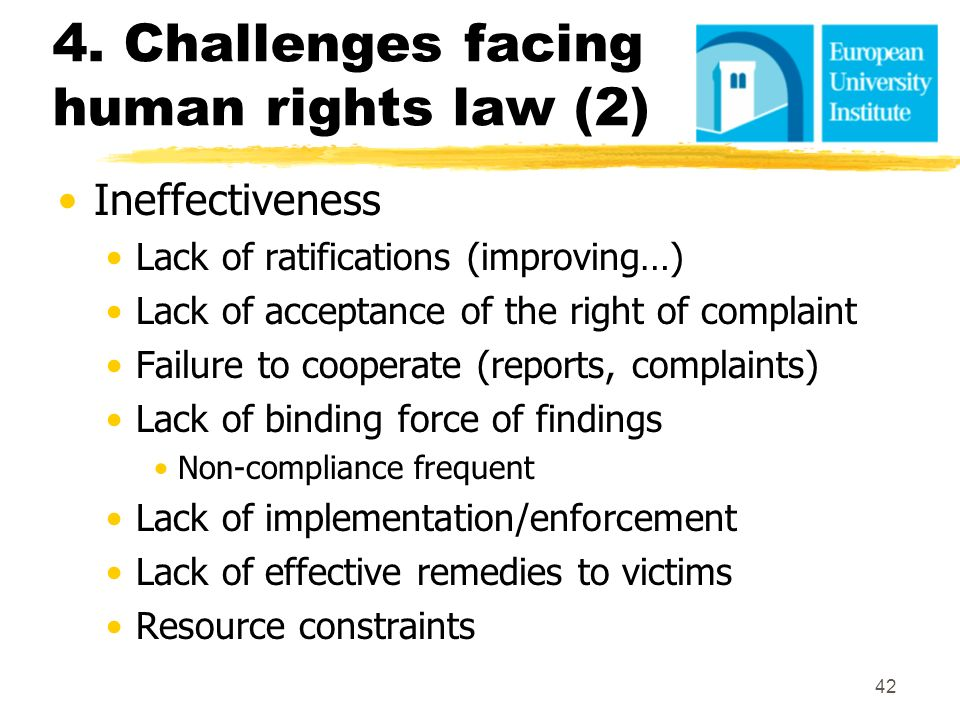 4. Challenges facing human rights law (2)