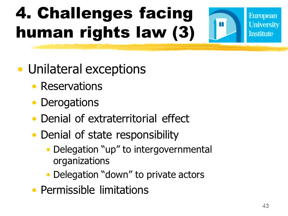 4. Challenges facing human rights law (3)