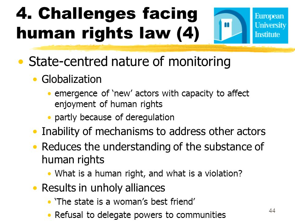 4. Challenges facing human rights law (4)