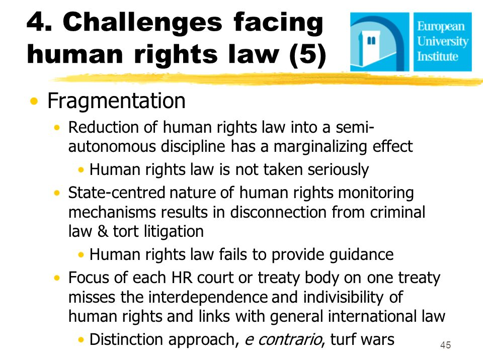 4. Challenges facing human rights law (5)