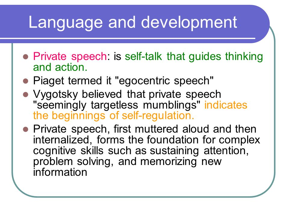 Speech writing and thought presentation skills