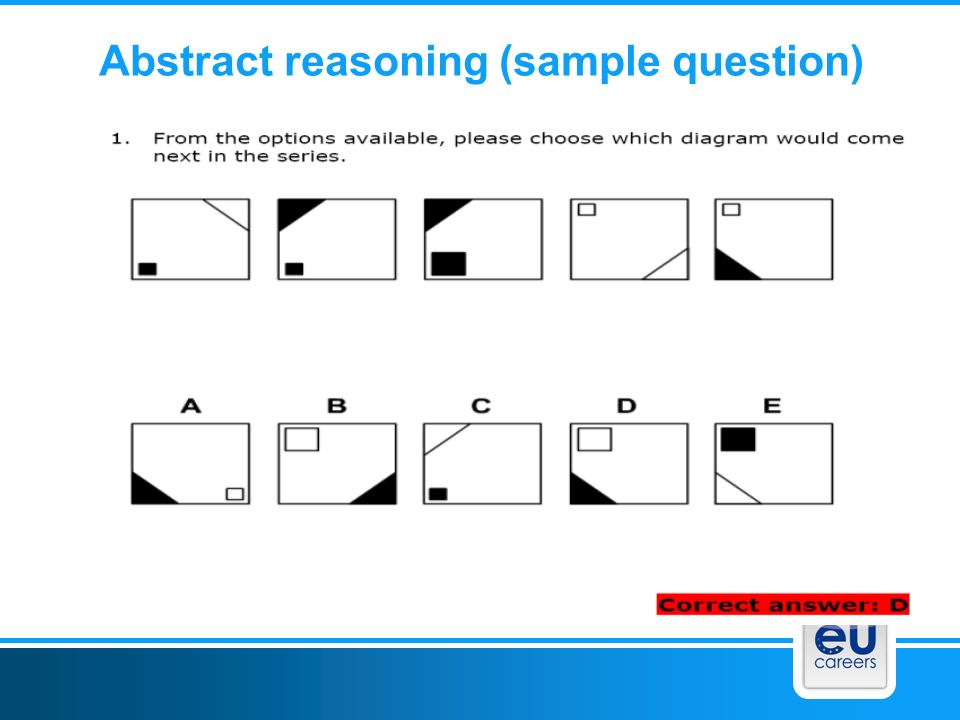 Abstract reasoning (sample question)