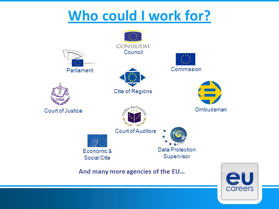And many more agencies of the EU…