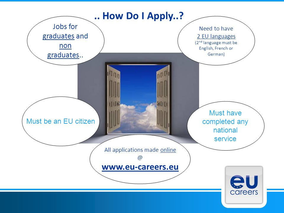 .. How Do I Apply.. www.eu-careers.eu