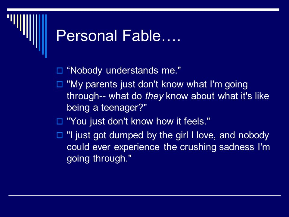 What Is a Personal Fable?
