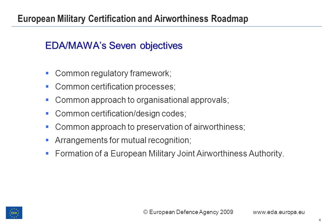 European Military Certification and Airworthiness Roadmap