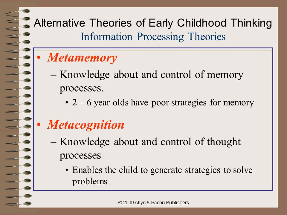 information processing theories in the preschool children The social-cognitive information-processing perspective on aggression   young children referred for aggressive behavior problems (ages 9 - 11.
