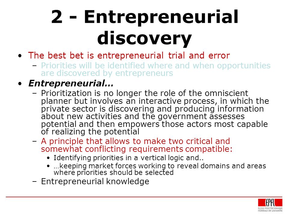 2 - Entrepreneurial discovery