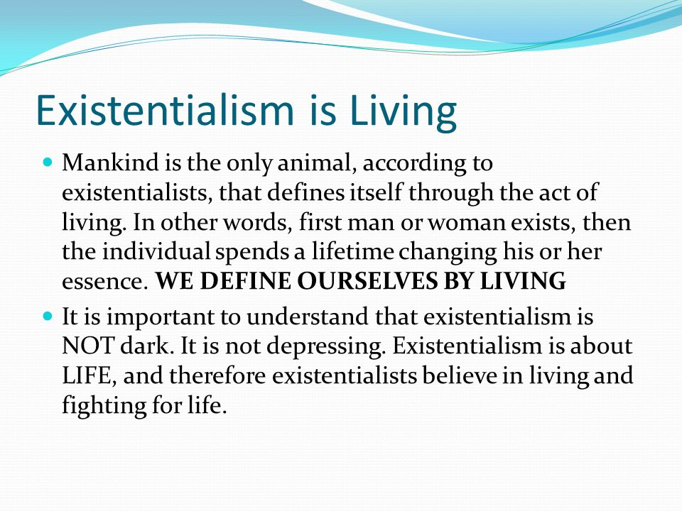 existentialism essay introduction Cline, austin what is existentialism existentialist history and thought thoughtco, mar 21, 2017, thoughtcocom/introduction-to-existentialism-249935.