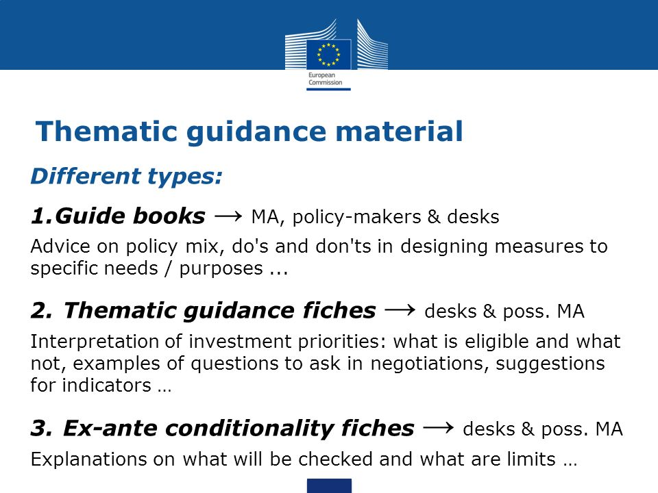 Thematic guidance material