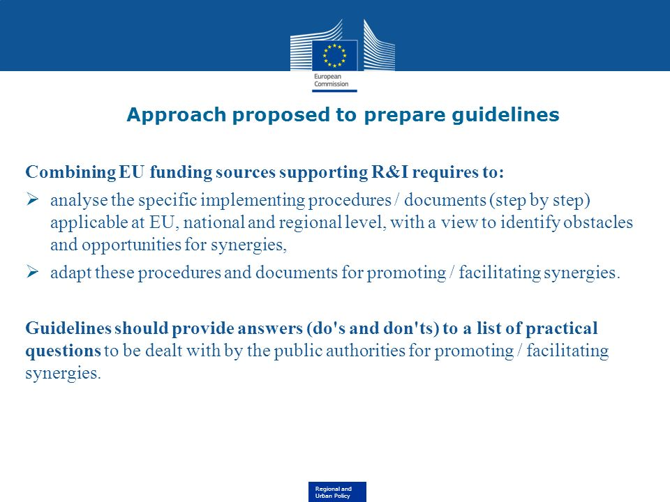Approach proposed to prepare guidelines