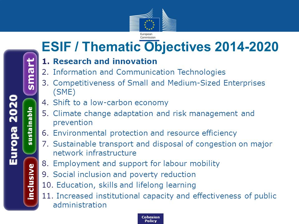 ESIF / Thematic Objectives 2014-2020