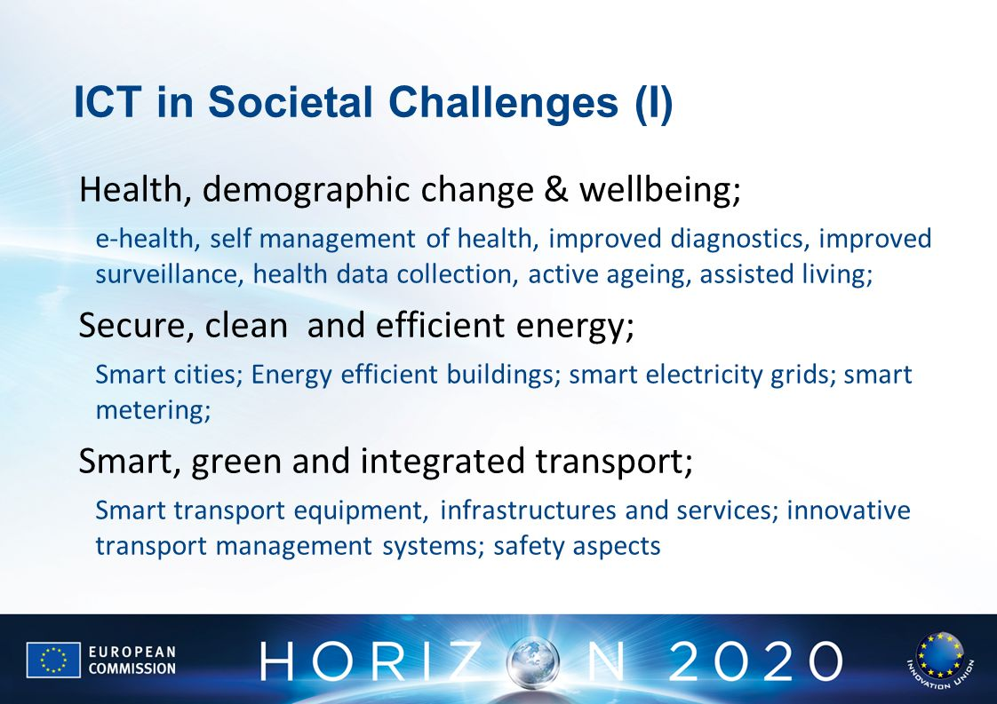 ICT in Societal Challenges (I)