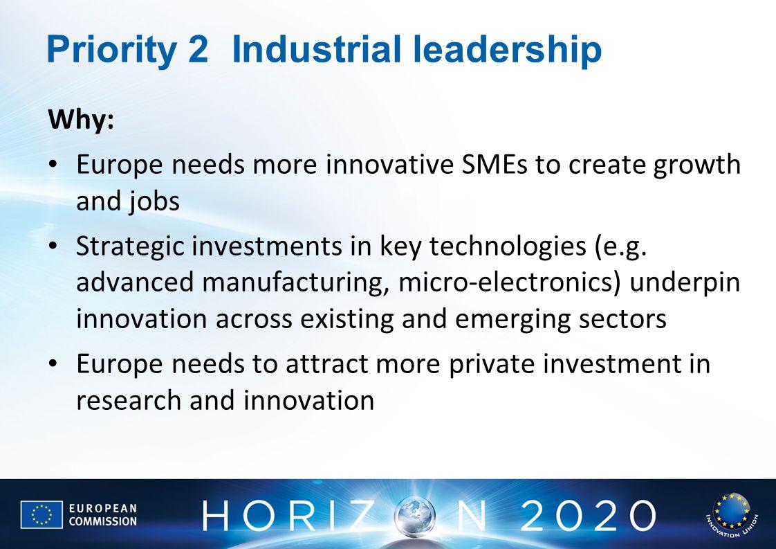 Priority 2 Industrial leadership