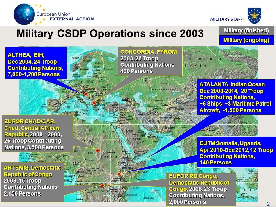 Military CSDP Operations since 2003