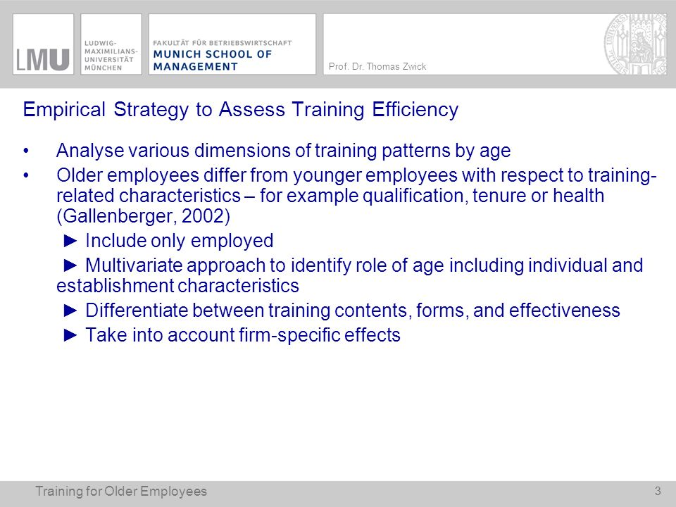 Empirical Strategy to Assess Training Efficiency