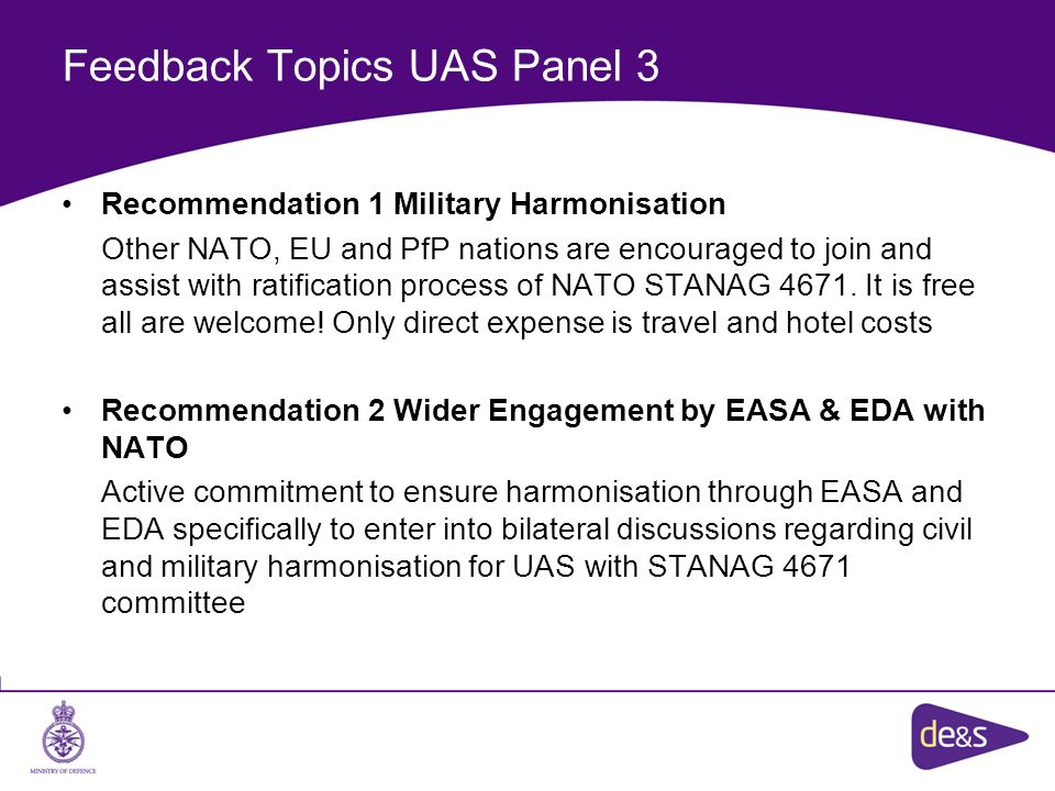 Feedback Topics UAS Panel 3