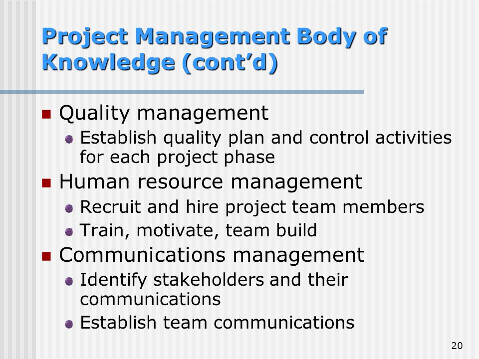 project management body of knowledge 1 project management body of knowledge (pmbok®) guide - th5 edition february 21, 2013.