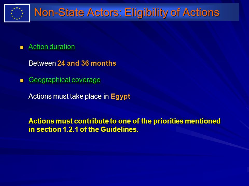 Non-State Actors: Eligibility of Actions