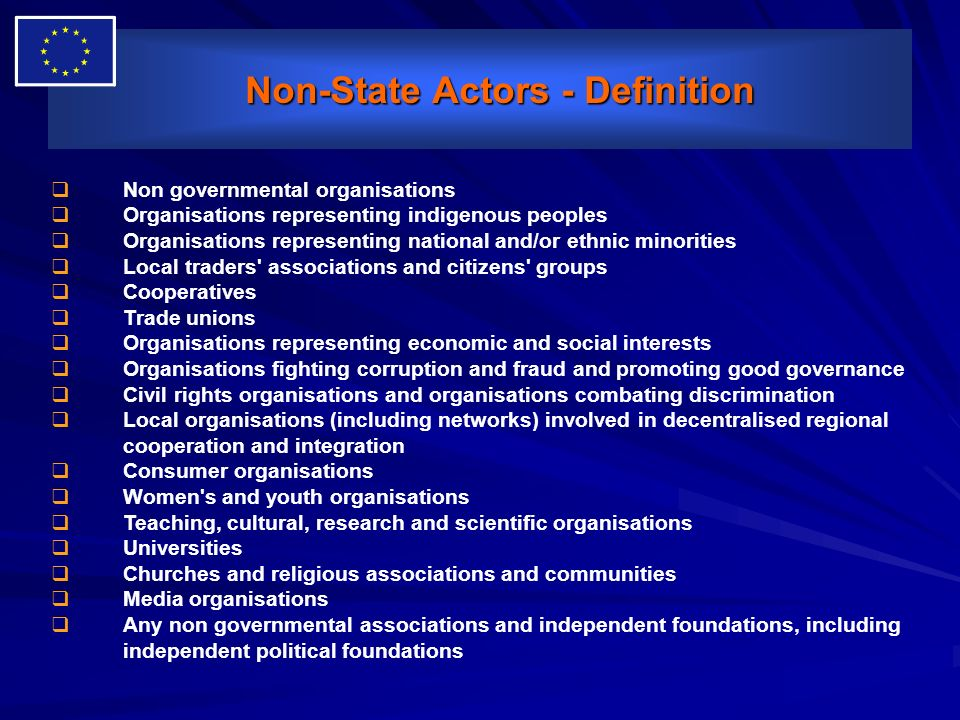 Non-State Actors - Definition