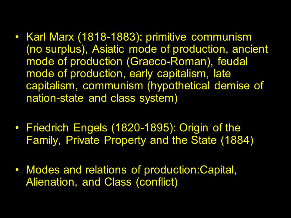 marx the mode of production