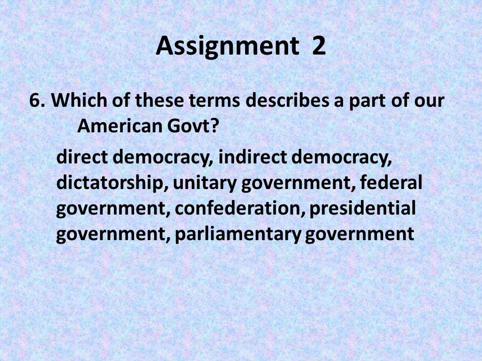 american govt assignment Ap summer reading assignments - 2018  ap american government  gifted  required summer reading for 10th grade american literature 18 junior.