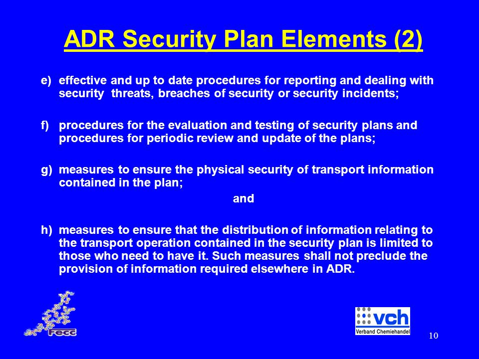 ADR Security Plan Elements (2)
