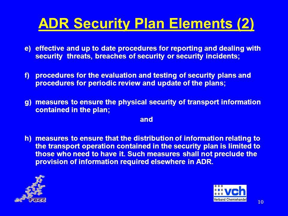ADR Security Plan Elements (2)