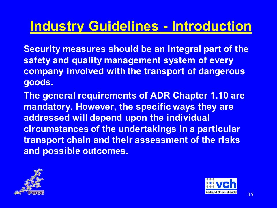 Industry Guidelines - Introduction